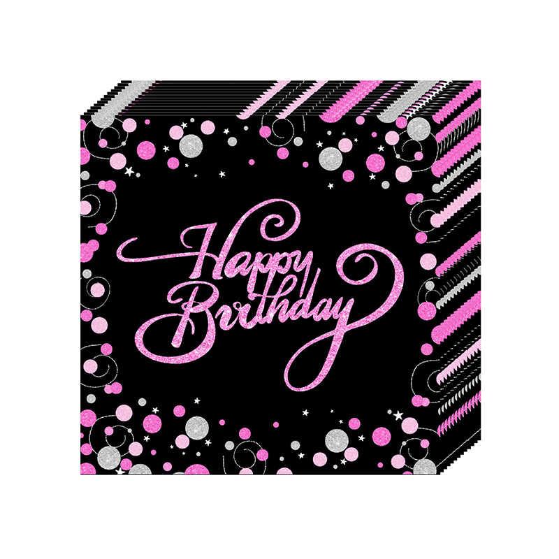 Розовый 30th день рождения одноразовая посуда для вечеринки Посуда Бумажная чашка пластина Салфетка скатерть воздушный шар женщина день рождения принадлежности