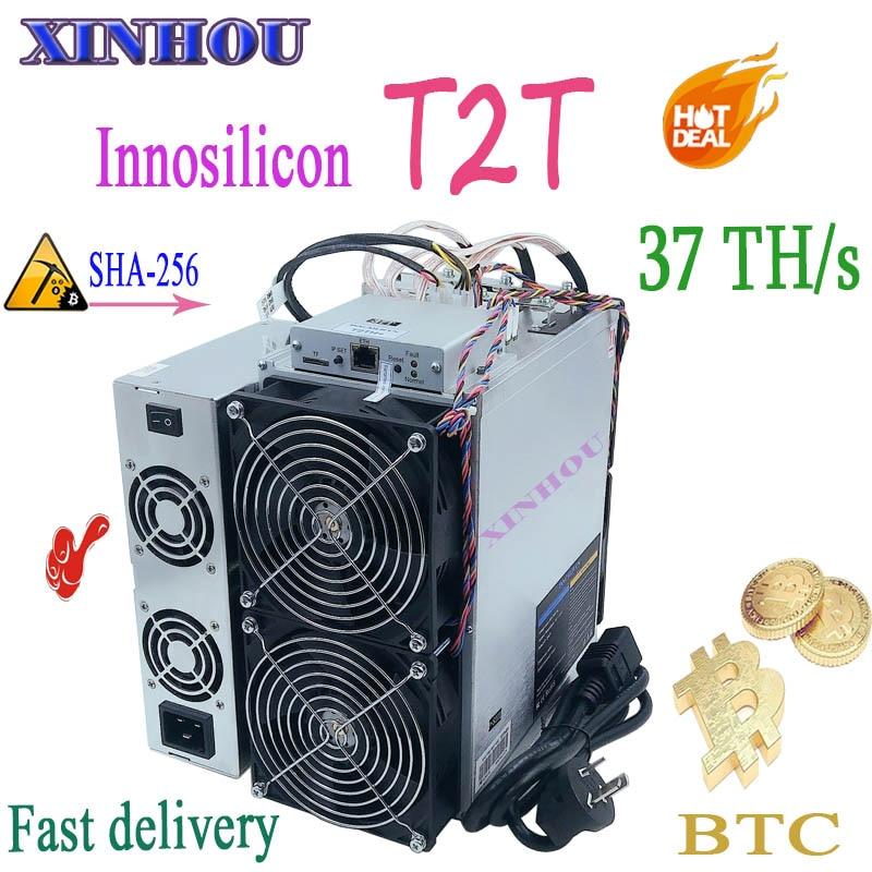 New ASIC Miner Innosilicon T2T 37T BTC Miner With PSU Better Than T3 Antminer S17 T17 S17e T17e S9 S9k S9SE T9+ M21 M21S M20S E9