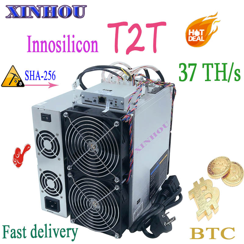 Nouvel ASIC Miner Innosilicon T2T 37T BTC miner avec PSU mieux que T3 Antminer S17 T17 S17e T17e S9 S9k S9SE T9 + M21 M21S M20S E9