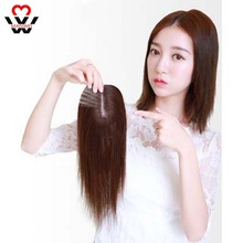MANWEI Bangs Clip In Hair Extension Straight Natural Black Human for women Used to increase hair  With Heat Resistant