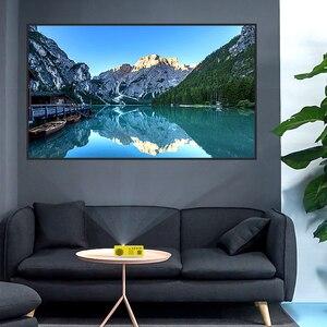 Image 5 - 1800 lümen Mini projektör ev 1080P taşınabilir LED projektör LCD ekran teknolojisi eğlence konferans sistemi