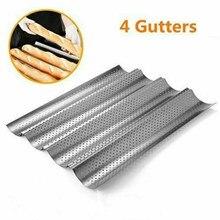 Plaque de cuisson à pain français en acier au carbone chaud 2/3/4 rainure vague pour Baguette moule de cuisson poêle à pain bricolage moule à pain outil de cuisson et de pâtisserie