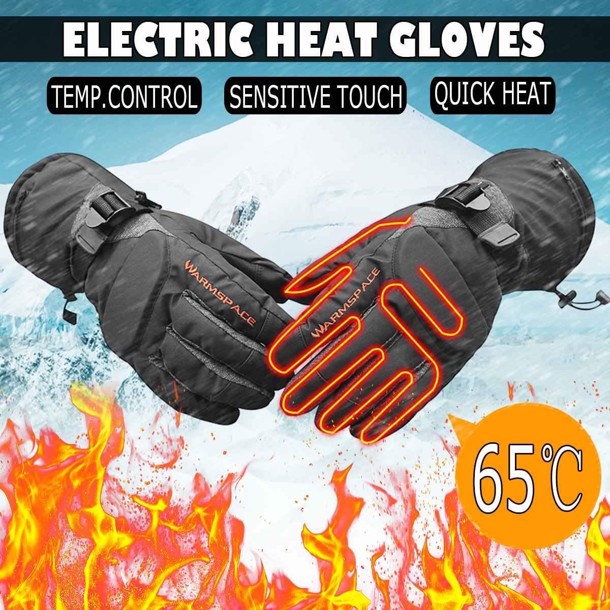Motorcycle Waterproof Elecric Battery Heated Gloves Warm Winter Riding Ski Glove