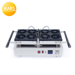 Stainless Steel Manual Donut Maker Machine Mini Donut Machine Electric Doughnut Making Machine Donuts Iron Plate Baking Oven