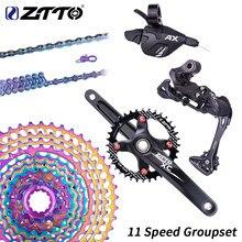 ZTTO 1X11 MTB 11-46, набор, Золотая Радуга, 11 скоростей, рычаг переключения передач, задний переключатель, 11 скоростей, набор 11-42, 11 s, кассета, звездочк...