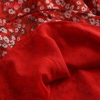 Tangada Women Red Flowers Chiffon Dress Sleeveless Backless 2021 Summer Fashion Lady Dresses 6D98 5