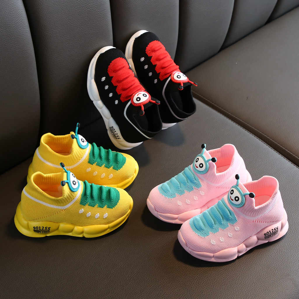 ילדי נעלי בנות בני ספורט למתוח רשת ילדי קריקטורה תינוקות בנות שטוח נעלי תינוק ריצה ילדים סניקרס Zapatillas נינו