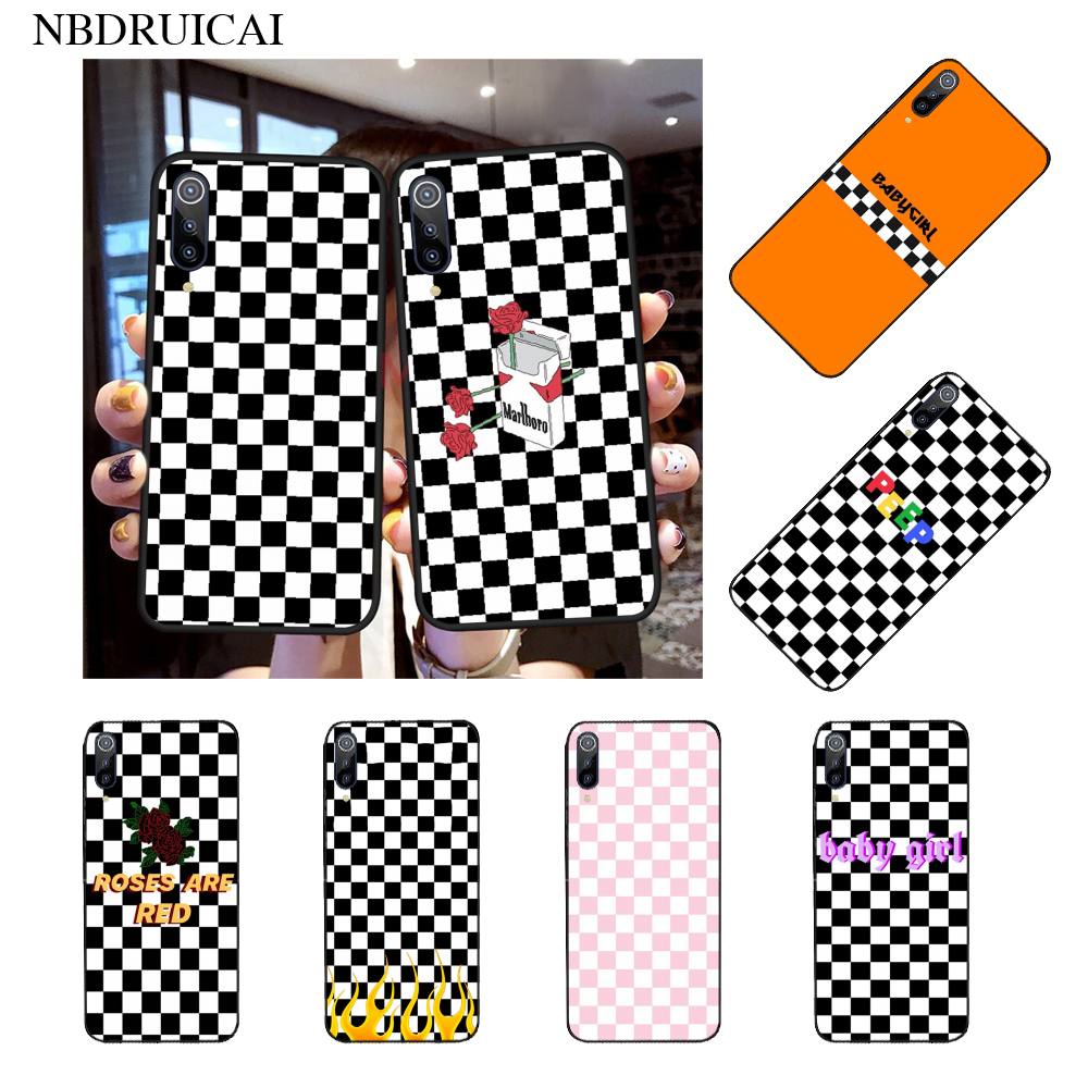 NBDRUICAI Black and White Chess Board New Arrival Phone Case for Xiaomi 8 9 se 5X Redmi 6pro 6A 4X 7 5plus note 5 7 6pro