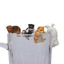 4pcs/set Cute Cat Sets Mini Animal Toy Home Ornament Craft Fairy Bonsai Decor Miniature Doll Cake Decoration DIY Accessories