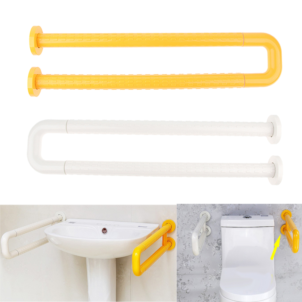 Bathroom Shower Toilet Bath Tub Washbasin Flip Up Grab Bar Safety Handrail with Wall Mounted Srews Accessories