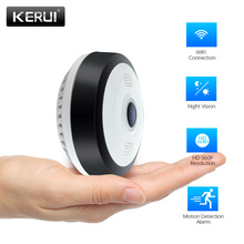 KERUI Home Security IP Camera 960P HD Camera Wifi Night Vision CCTV Camera Baby Monitor 360 fisheye mini panoramic camera fredi 360 degree panoramic ip camera 960p hd 1 3mp security wifi camera infrared night vision wireless camera support 128g card