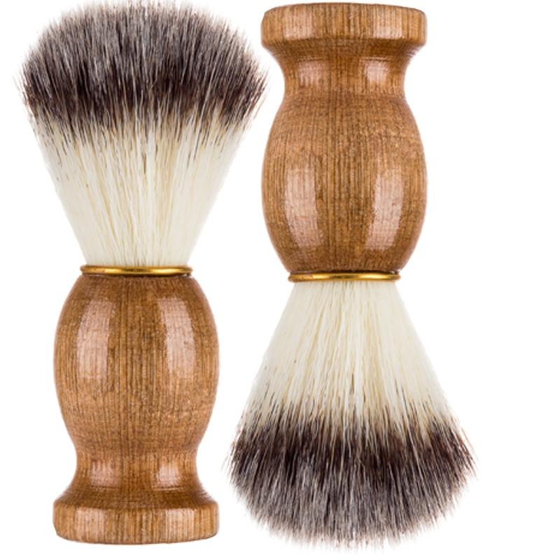 Nylon Men Beard Kit Shaving Brush Barber Salon Men Facial Beard To Comb Wood Handle Razors Shaving Accessorie Szczotka Do