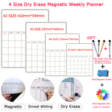 Sticker Whiteboard Magnetic Bulletin Message Drawing Planner 4-Size Calendar Fridge Dry-Erase