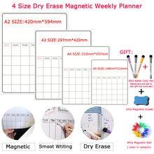 4 размера сухой стираемый календарь магнитный Еженедельный и