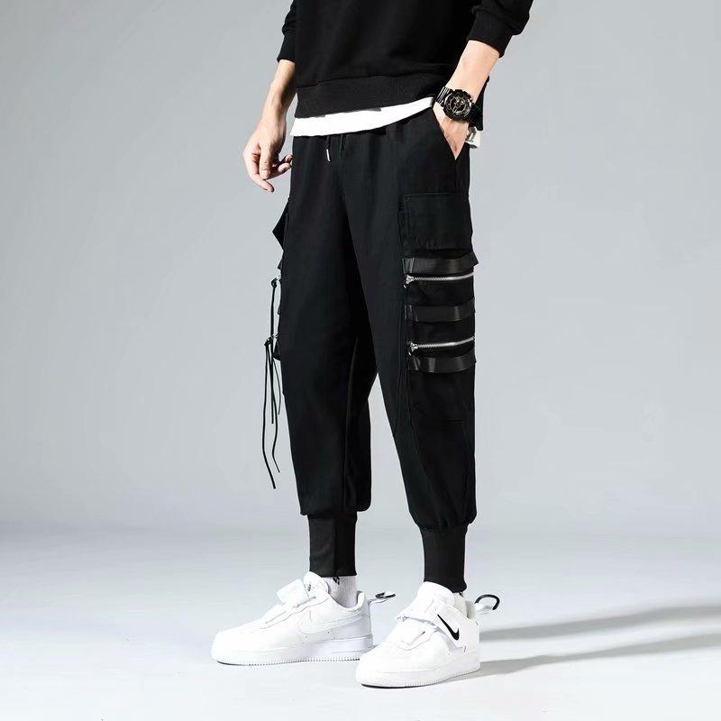 5XL Hüfte Hüfte Männer Baumwolle Hosen Elastische Taille Harem Hose Cargo-Hosen Plus Größe Streetwear Herren Camouflage Jogger Hosen 2020