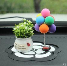 Bonito automóveis interiores decoração do carro balão de argila bonito confissão adorável brinquedos auto interior dashboard acessórios