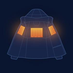 Image 4 - Youpin فانكل أسفل معطف شاومي سترة التحكم في درجة الحرارة التدفئة المستمرة غاري أوزة ملء مكافحة الحفر Proces معطف الشتاء