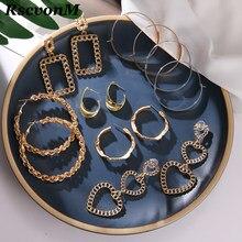 Rscvonm exagerados brincos de metal grande círculo disco atmosférico multi-nível moda retro redondo boho estilo oco senhoras brincos