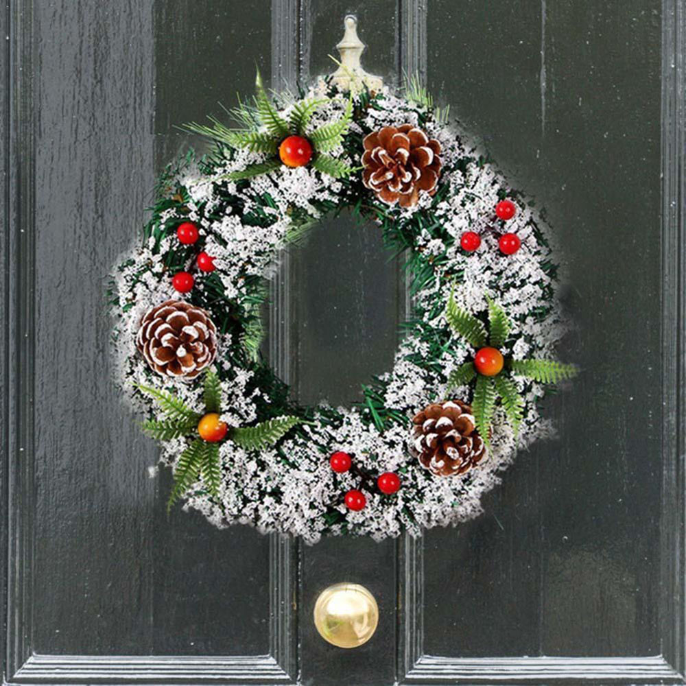 20/30 CmWall Hanging Christmas Wreath Decoration For Xmas Party Door Garland Ornament Home Decor Holiday Accessories