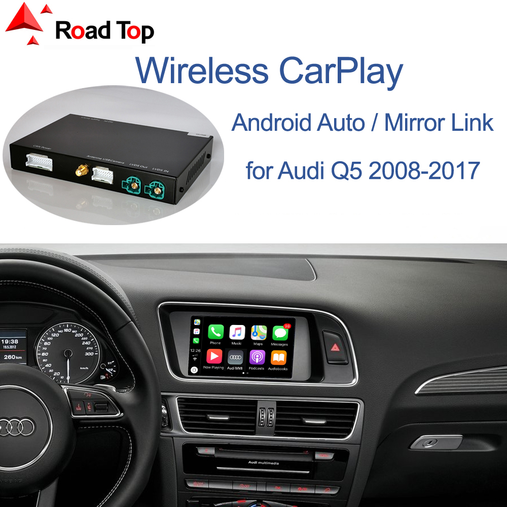 Беспроводной автомобильный интерфейс Apple CarPlay Android для Audi Q5 2009-2017, с функцией Mirror Link AirPlay