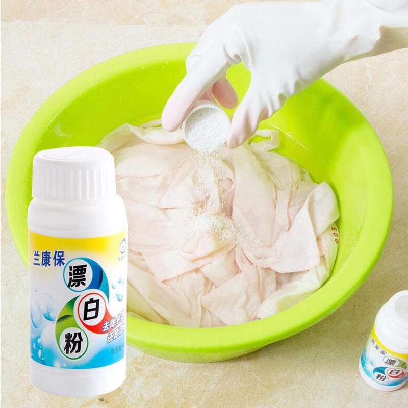 100g High Quality White Clothing Bleach Power Whitening For Cloth White Clothes Shirt Strong Decontamination To Color Bleaching