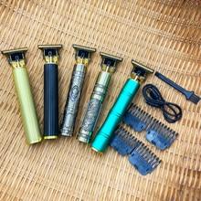 Cortadora de pelo profesional recargable por USB T9 para hombre, Afeitadora eléctrica inalámbrica de 0mm, máquina de peluquero, 2021