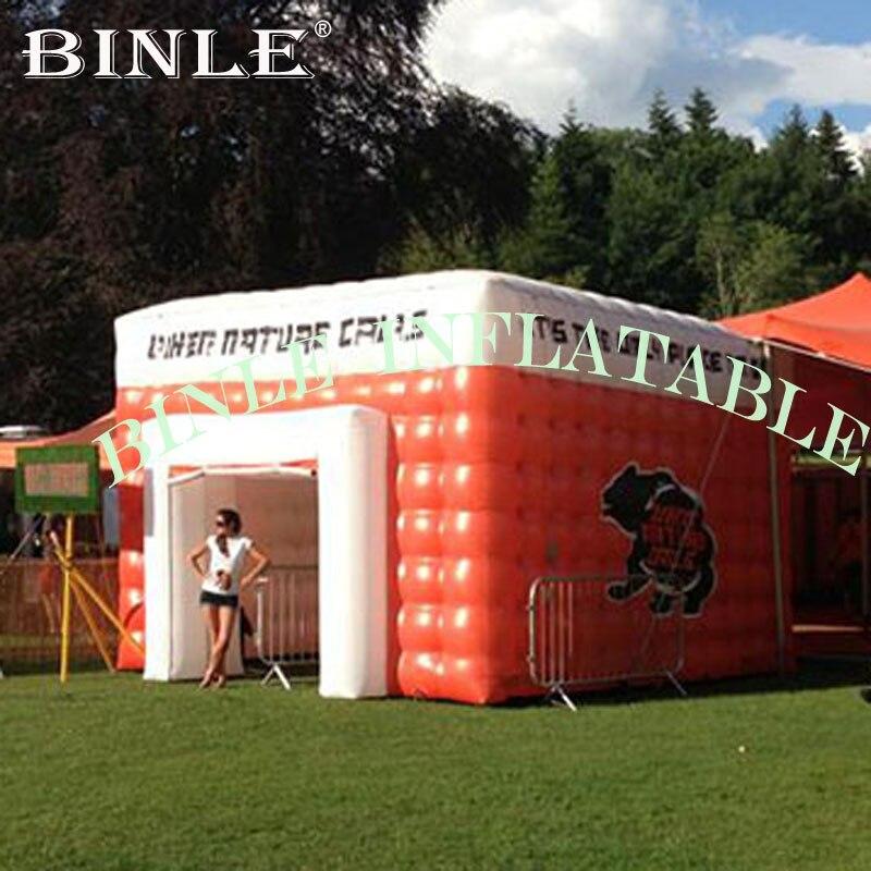 Grande tente carrée gonflable de haute qualité, cube gonflable/tente de structure cubique, chapiteau gonflable pour des salons