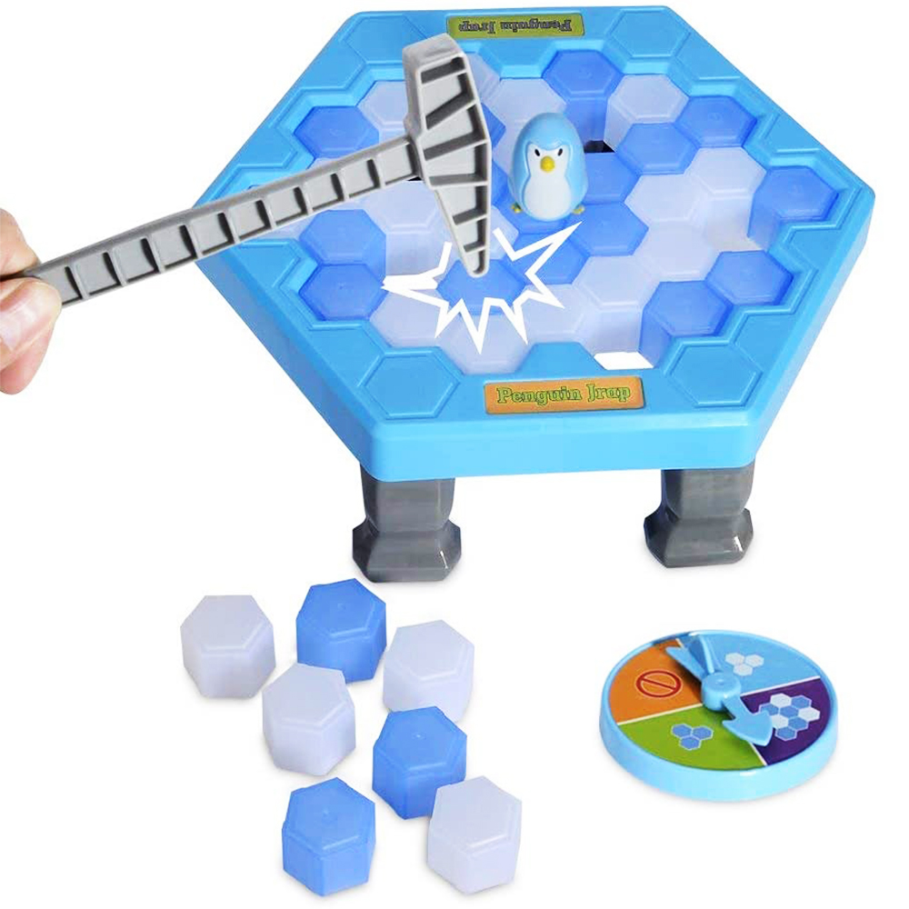 Big Size Penguin Trap Ice Breaking Save The Penguin Family Fun Game Activate Funny Table Game Interactive Entertainment Kids Toy