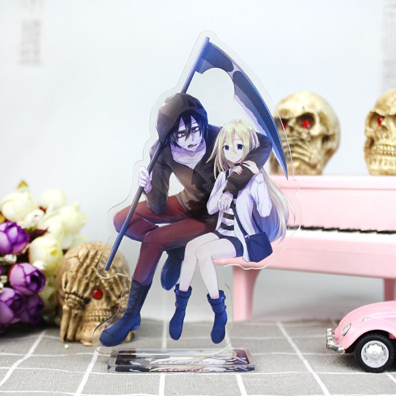 Anime Angels Of Death Big Display Stand Plate Cartoon Figure Acrylic Stand Holder Model