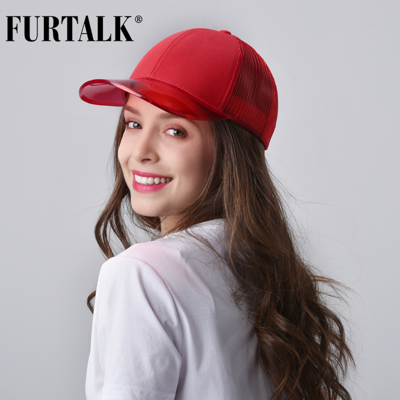 FURTALK Baseball Cap Women Black Snapback Hip Hop Cap Summer Ladies Adjustable Pink Baseball Cap Korean Female Hat For Girls