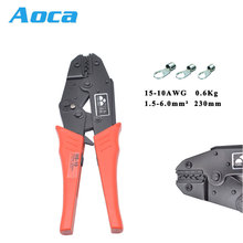 COLORS HS-10 wire crimping pliers for non-insulated terminals clamp 1.5-10mm2 15-7AWG W shape European style crimping hand tools hs 6m crimping tools pliers for non insulated terminals japanese style mini type crimping plier terminals crimping tools