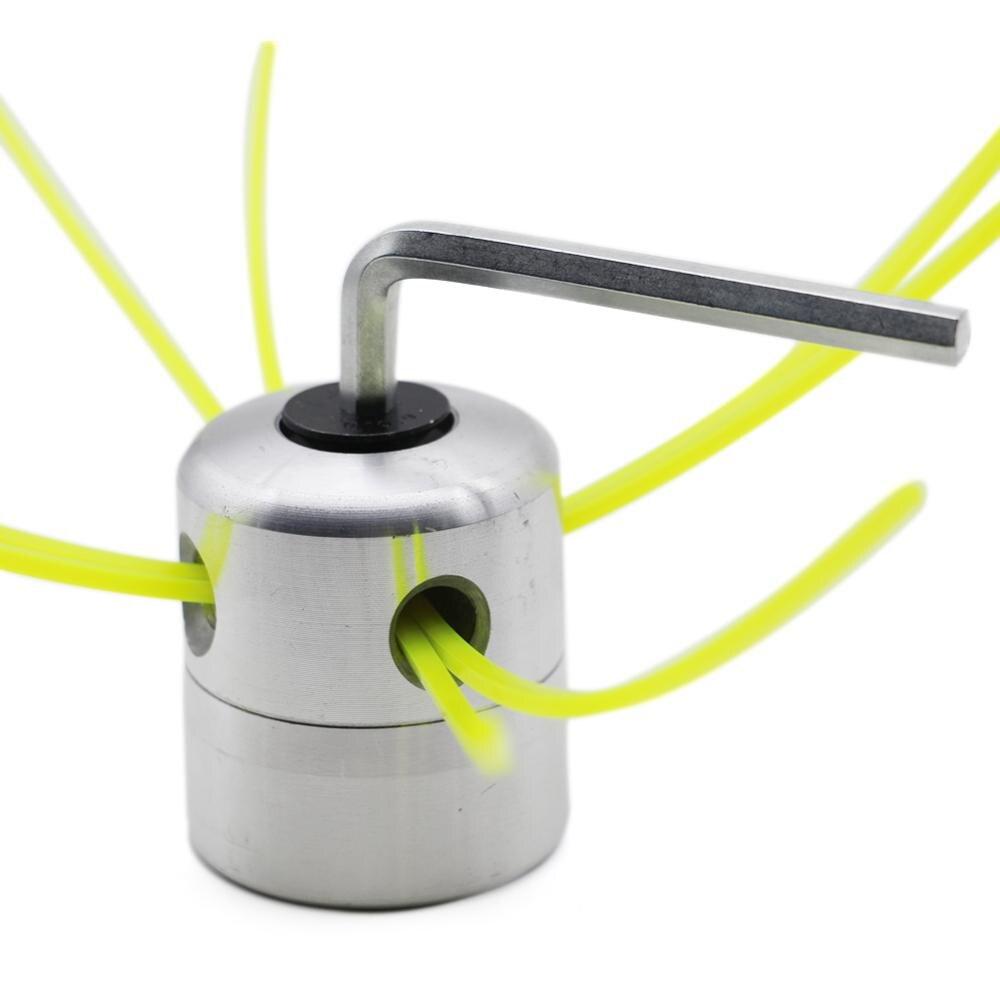Universal Aluminium Alloy Garden Trimmer Head Strimmer Trimmer Head String Set For Gasoline Grass Brush Cutter With 4 Line Brush