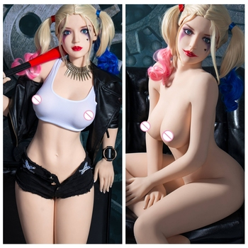 140cm Clown Real Silicone Sex Dolls Love realistic Dolls Lifelike Anime Realistic Sexy Toys Anime pussy Doll Breast