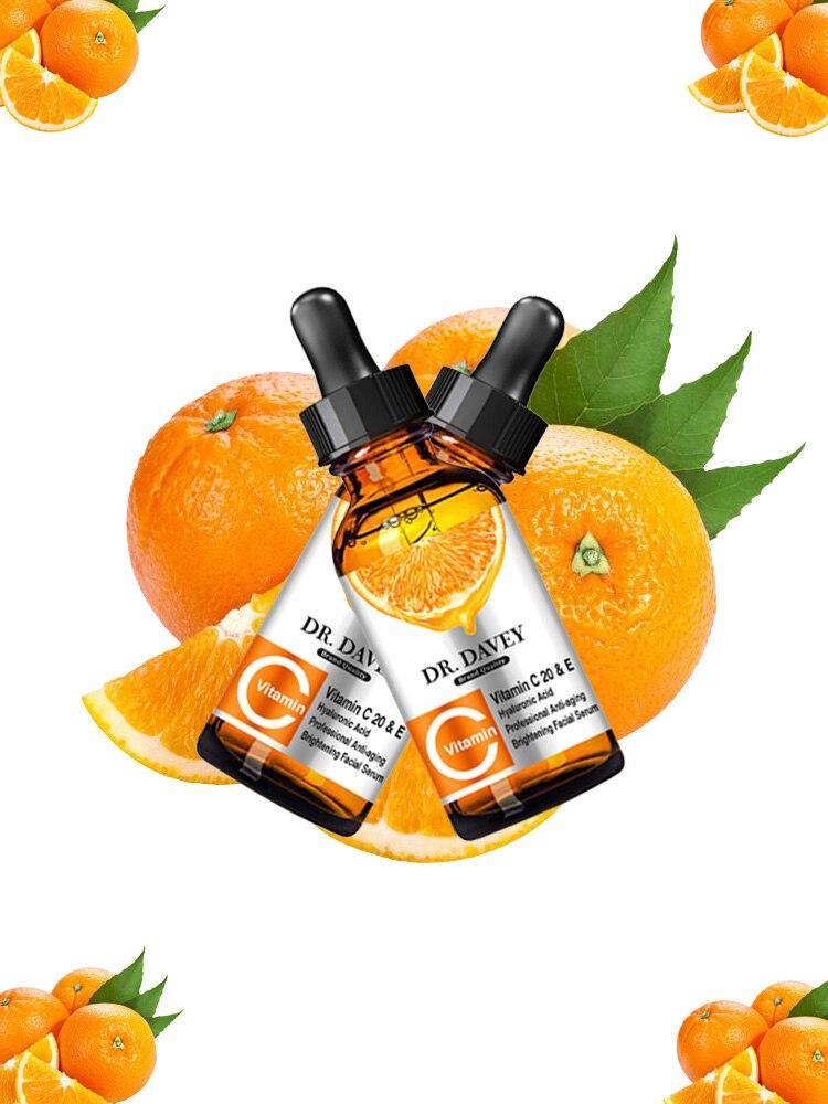 Vitamin C&E The USA Serum Liquid Freckle Removal Acne Scars Hyaluronic Acid Anti-wrinkle Face Serum Fade Dark Spot 30ml
