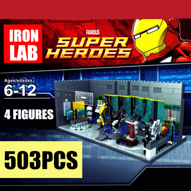 New Super Heroes Iron Man Underground Marvel Tony Stark Avengers Tower Fit Endgame Infinity War Figures Building Block Brick Toy in Blocks from Toys Hobbies