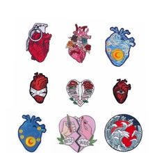 Pulaqi Red Heart Patches On Clothes Van Gogh Iron On Embroidered Patches Badges Rock Outdoor Embroidery Patches For Clothing DIY embroidered patches medic skull tactical military patches paramedic decorative reflective medical cross embroidery badges