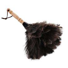 Punho de madeira antiestático da ferramenta da limpeza da poeira do espanador da escova da pele da pena da avestruz