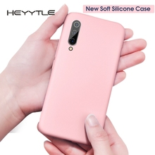 Heyytle Silicone Soft Case For Xiaomi Mi 8 Lite 9 se CC9 Full Cover Shockproof Redmi Note 7 Pro K20 Candy Colors Coque