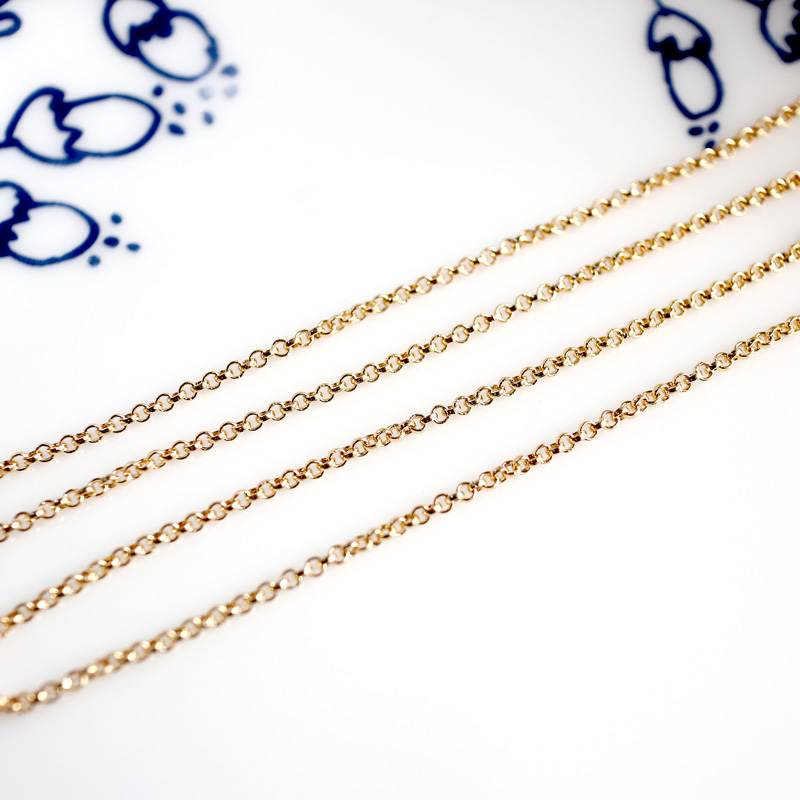 95m Iron Cross Chain Silver Color Reel DIY Jewelry Making Bracelet Findings