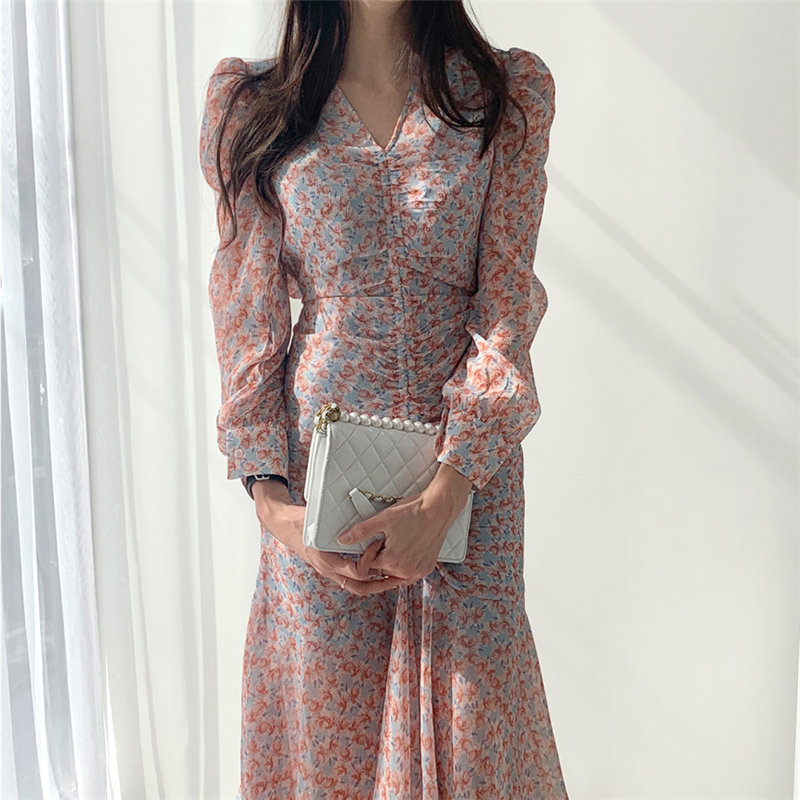 Alien Kitty 2020 Feminine Florals Slim Sexy Korean Sweet Office Lady Hot Chic Women High Waist Elegance Gentle Vestidos Dresses