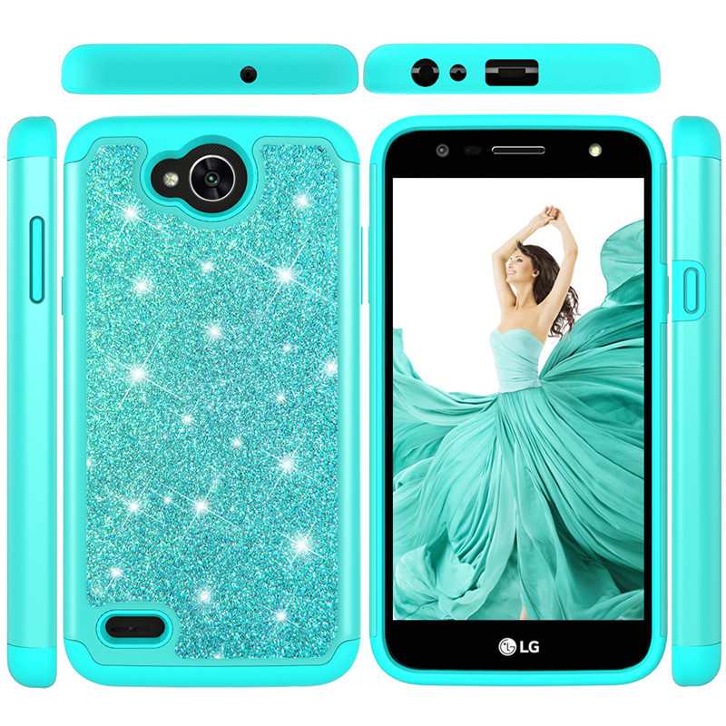 Shining Glitter Bling Candy Color Case For LG X2 2019 V50 Thinq 5G K10 2018 K30 X Power 2 X320 Phone Cases Back Cover Fundas