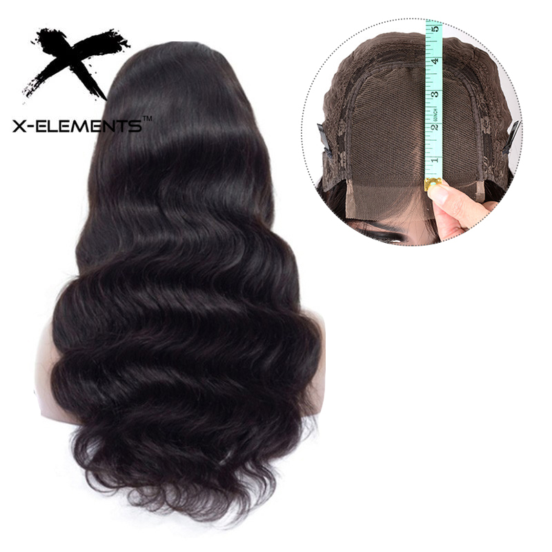4x4 Lace Closure Wig Remy Hair Peruvian Body Wave Lace Wig 150% Density Lace Closure Human Hair Wigs With Baby Hair X-Elements