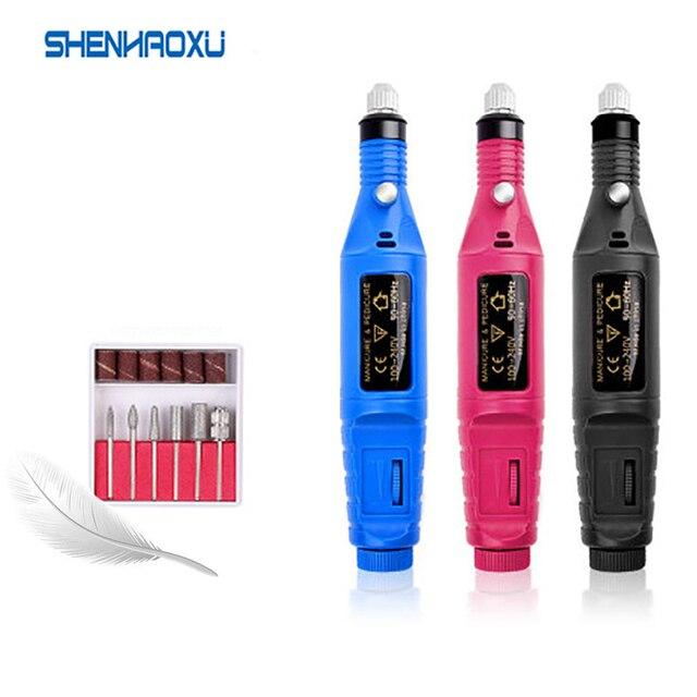 100 V 240V Mini Elektrische Grinder Bohrer Werkzeug Gravur Stift DIY Set Power Tool Nagel Gel Polnisch Entfernen Schleifen Dreh Gravur