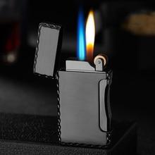 Две пламени Металлическая Зажигалка Факел турбо зажигалка газовая Зажигалка сигарета зажигалки принадлежности для курения гаджеты для мужчин