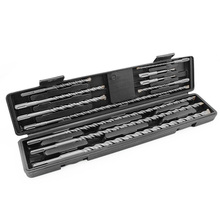 11PCS/Set Tungsten Carbide Tip Hammer Drill 5-20mm SDS Plus Masonry Hammer Drill Bits Set with Tool Case