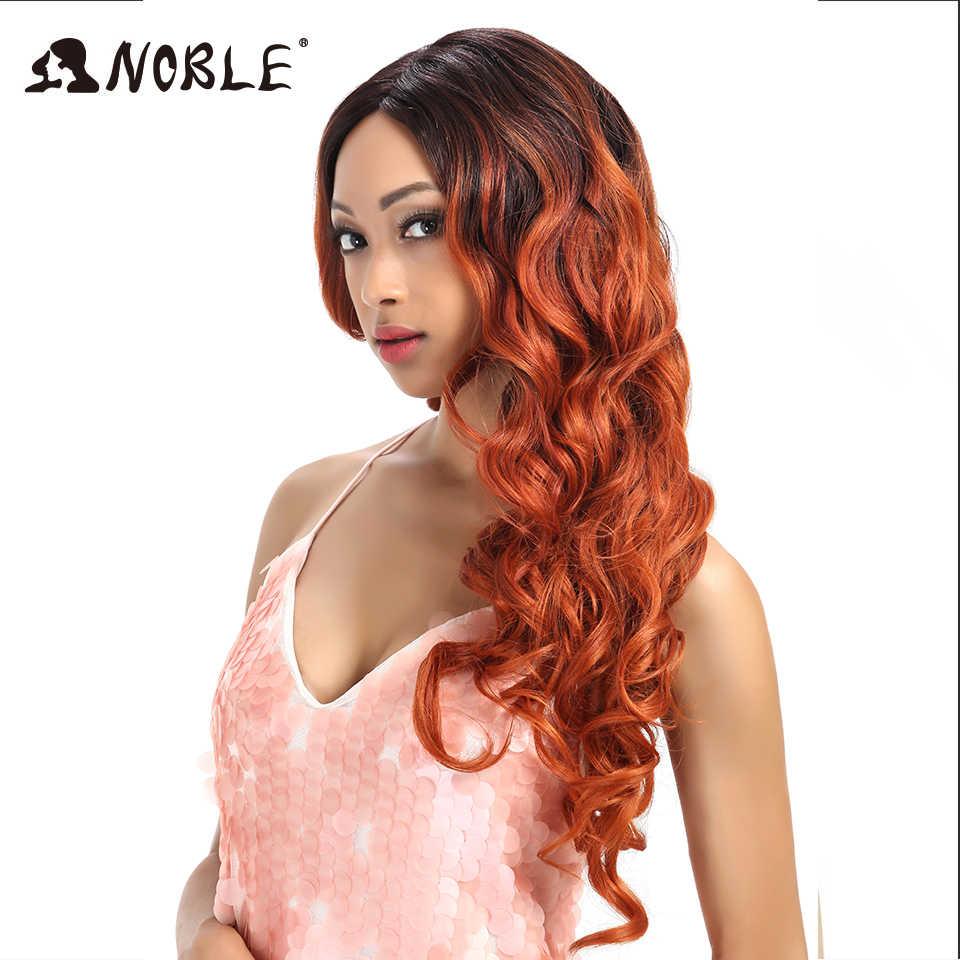 Peluca sintética Noble peluca resistente al calor ondulada de 26 pulgadas peluca frontal de encaje sintético para mujer peluca roja de fiesta de 613 pelucas de Cosplay