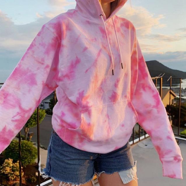Rainbow Hoodies Women Sweatshirt Oversize Tie Dye Hoodie Streetwear Pullover Spring Autumn Casual Women Sweatshirts Hoddies Tops 4