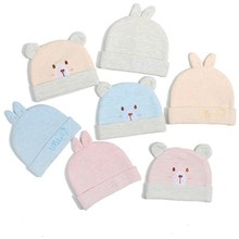 2020 Cute Kids Hat Bear Styles Cap for Boys Girls Candy Colors Baby Beanies Hats double Cotton layer newborn Hat Toddler Infant