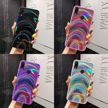 Градиентный Радужный лазерный чехол для телефона huawei P30 Pro P20 mate 20 lite Y5 Y6 Y7 prime P Smart для Honor 8X 10i 20i 7C 8A Pro