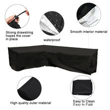 sofa cover Waterproof garden Corner Sofa L Shape Cover Patio Furniture Protective Cover Sunscreen All-Purpose Outdoor Dust Cover все цены